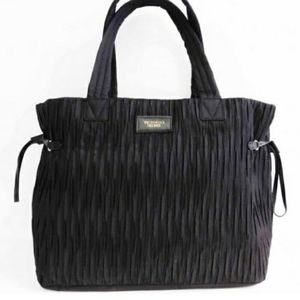 Large Victoria's Secret Black Pleated Bag.
